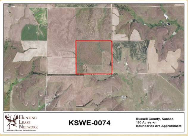 Deer Hunting 160 Acres in Russell County, KS featured image
